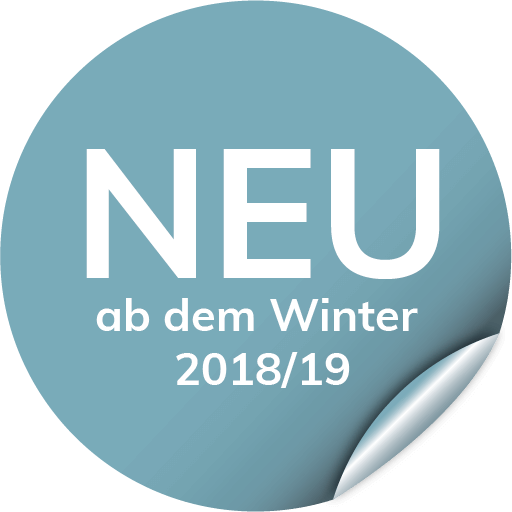 neu ab dem Winter 2018/19